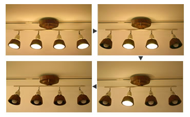 3種類の点灯パターン