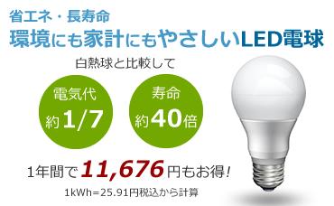 省エネ・長寿命のLED電球がお得です!