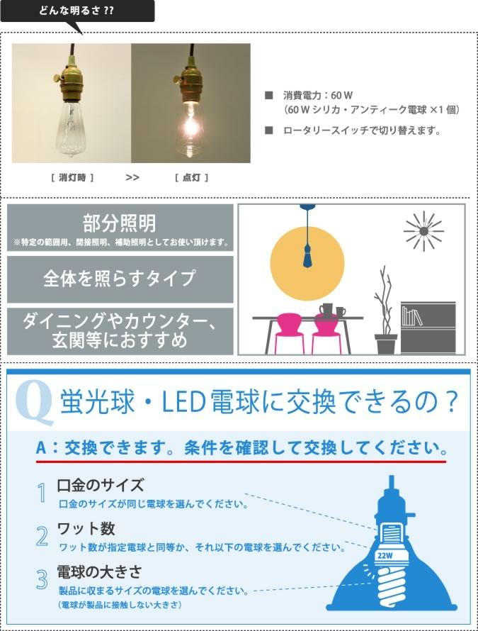 どんな明るさ レイトンペンダント ライト 照明 aw-0363