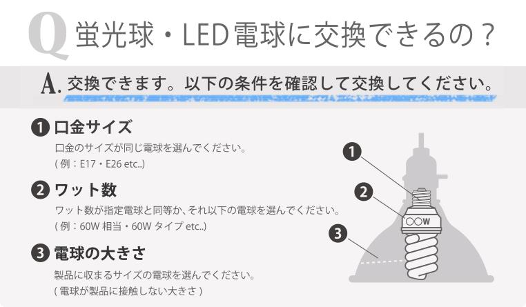 LED電球に交換できます。