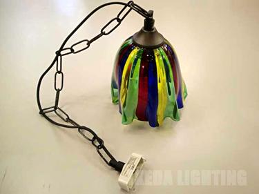 ムラノガラスペンダントの照明詳細画像