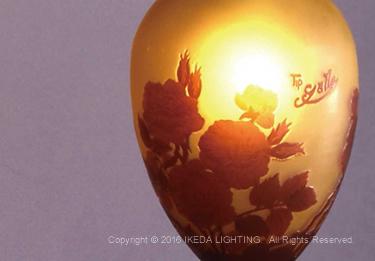 薔薇(レッドローズ)【ガレコレクション】の照明詳細画像3