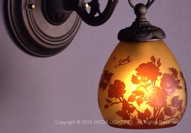 薔薇(レッドローズ)【ガレコレクション】の照明詳細画像1