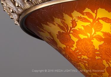 薔薇(レッドローズ)【ガレランプ コレクション】の照明詳細画像2