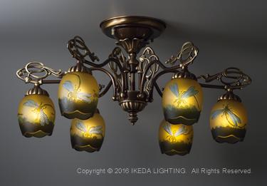 トンボ(リベラ)【ガレ ランプ コレクション】の照明詳細画像1