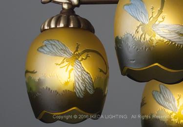 トンボ(リベラ)【ガレ ランプ コレクション】の照明詳細画像2