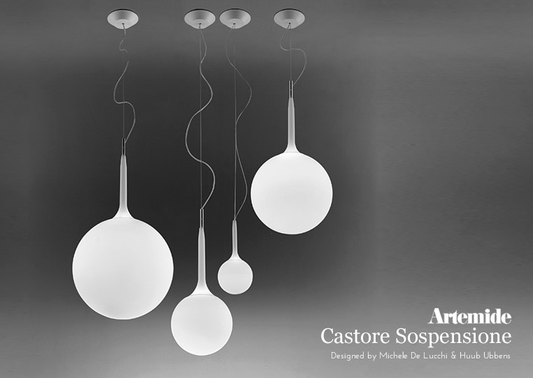 Castore Sospensione|カストレ ソスペンシオーネ 25|ペンダントランプ|Artemideアルテミデのイメージ
