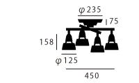 ハーモニーエックスシーリングランプAW-0322の照明サイズ