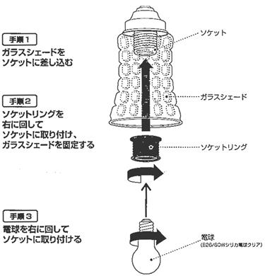 AW-0334アマレットリモートシーリングランプの取り付け方法