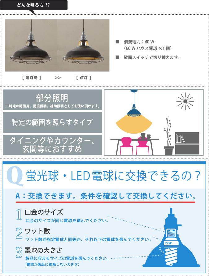 どんな明るさ ジェイルペンダント ライト 照明 aw-0350
