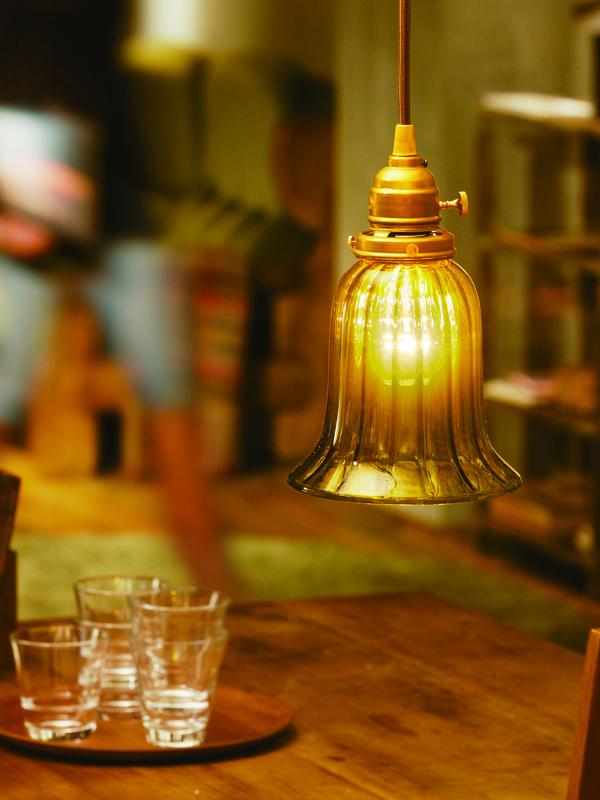 クルール グラス ロング ペンダント ライト 照明 aw-0365 食事や会話を彩るレトロな灯り led照明