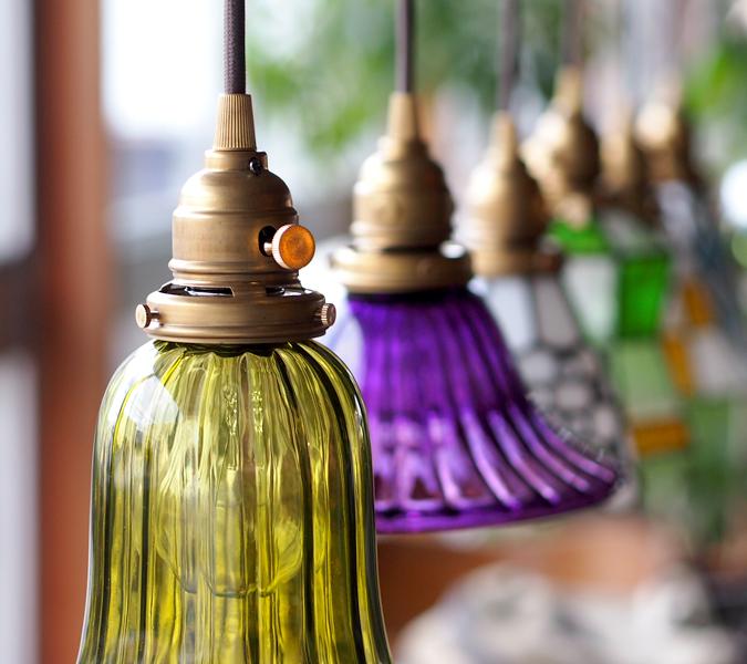 クルール グラス ロング ペンダント ライト 照明 aw-0366 食事や会話を彩るレトロな灯り led照明