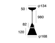 ステンドグラスペンダント チェッカー AW-0373 照明のサイズ