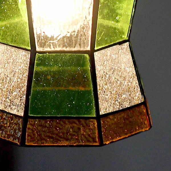 ステンドグラスペンダント ヘルム ライト 照明 aw-0372 優しくて懐かしいレトロな灯り led照明