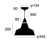Railroad-pendant レイルロード ペンダント アートワークスタジオ AW-0375天井照明のサイズ画像