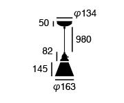 Stained glass-pendant Break ブレイク ステンドグラスペンダント AW-0388サイズ