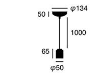 セラミックジュピターペンダントAW-0480の照明サイズ