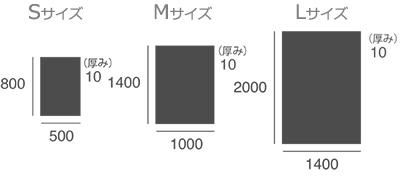 ラグマットのサイズ
