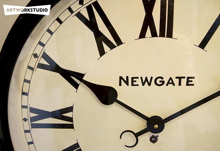 バタースビーウォールクロック〔ニューゲート / アートワークスタジオ〕|掛け時計のイメージ画像