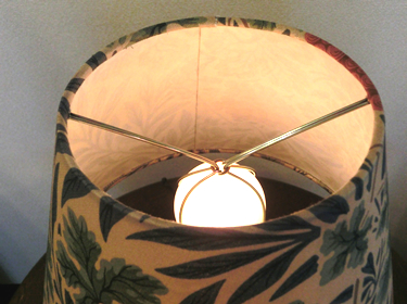 ウィローボウのランプキャッチ部分|william morrisウィリアムモリススタンドの照明詳細画像