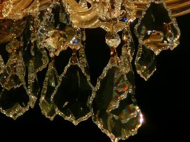 インポートシャンデリアの照明詳細画像