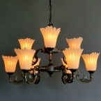 インポートシャンデリア9灯
