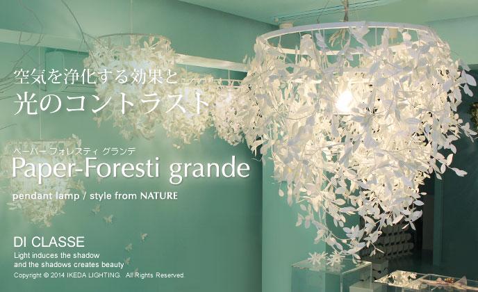 Paper-Foresti grande pendant lampペーパーフォレスティ グランデLP2360WHの照明イメージ