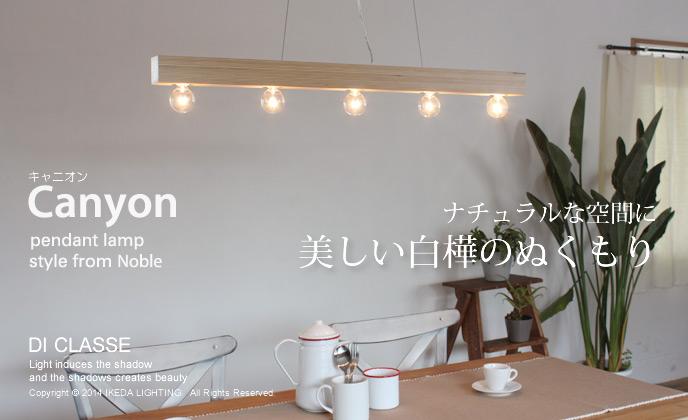 Canyon pendant lampキャニオン ペンダントランプLP3059WOの照明イメージ