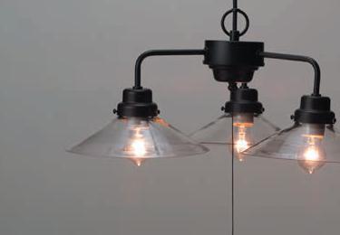 透明P1硝子・3灯用ロマンペンダント〔GLF-3228〕の照明詳細画像1