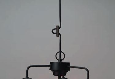 透明P1硝子・3灯用ロマンペンダント〔GLF-3228〕の照明詳細画像2