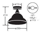 ベルリア CL型|後藤照明のサイズ画像