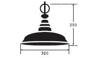 ピサ 後藤照明のサイズ画像