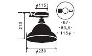 カシオペア〔GLF-3351〕|後藤照明のサイズ画像