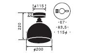 タウルス〔GLF-3359〕|後藤照明のサイズ画像