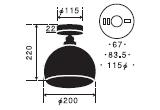 オリオン〔GLF-3363〕 後藤照明のサイズ画像