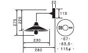 アンドロメダ〔GLF-3366〕|後藤照明のサイズ画像