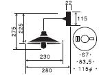 ケンタウルス〔GLF-3374〕|後藤照明のサイズ画像
