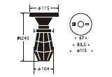 ビス止めガード65直付 〔GLF-3455〕|後藤照明のサイズ画像