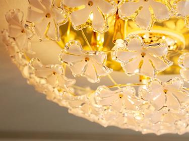 Bouquet Series ブーケシリーズ シーリングランプ シャンデリア GEM-6661R照明の細部画像