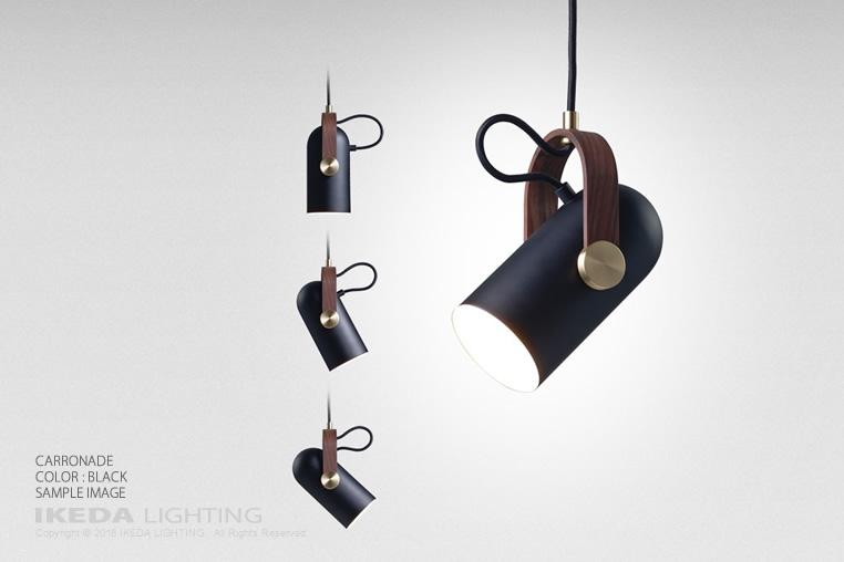 レクリント カロネード ペンダントランプ ブラック LE KLINT 照明イメージ