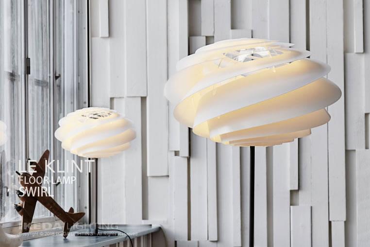 スワール|フロアスタンド|レクリントの照明イメージ