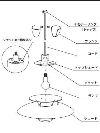 ph50〔ルイスポールセン〕照明の図