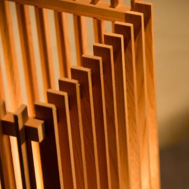 簾 ren L|行灯||和風|照明|スタンド|A515の和風照明詳細画像